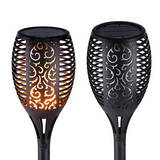 Garden Solar Flame Torch Lights - 2Pcs