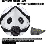 The AV Mask With 5  Activated Carbon Filters