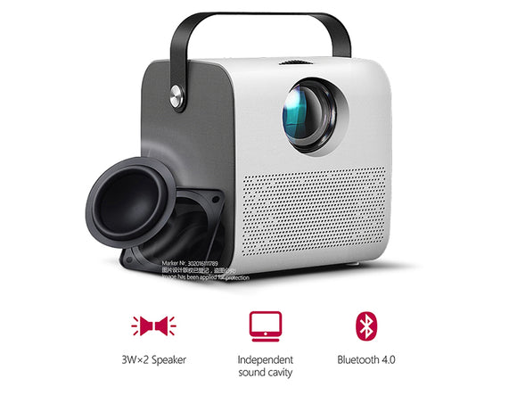 AKEY7 Portable Mini Projector Home Cinema 1280P