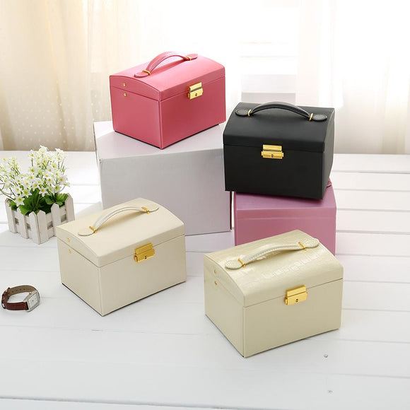 Leather Jewelry Organizer Box
