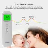In Stock Non-contact Infrared Thermometer Digital Clinical Thermometer Baby Forehead Thermometer with CE & FDA Approved for Kids / Men and Women / Mini Style / Switching Between ℉/ ℃