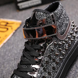 Unisex Spiked High Top Designer Shoes