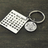 Personalized Photo Calendar Keychain