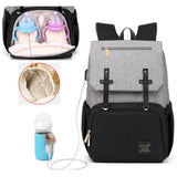 Smart Diaper Bag Backpack With USB Bottle Warmer