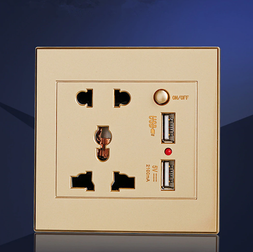 Double USB Port Power Socket