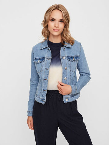 Vero Moda Hot Denim Jacket - Light Blue