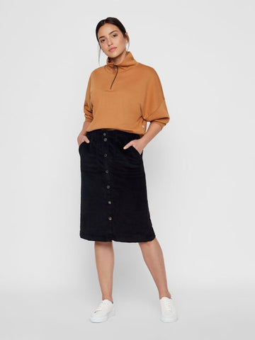 Vero Moda Julia Corduroy Skirt - Black