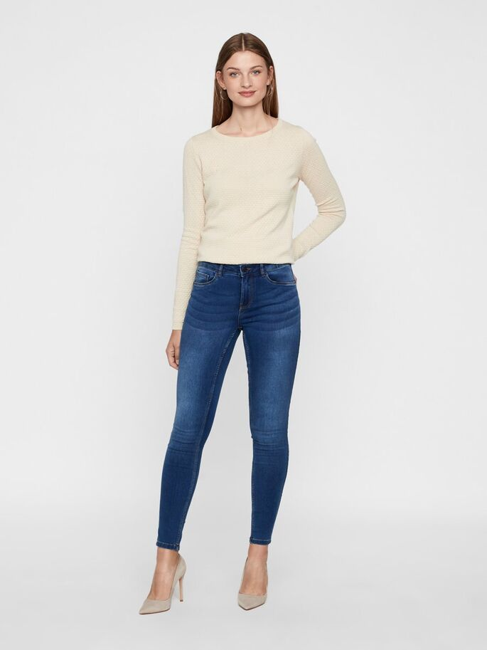 Vero Moda Seven Stretch Jeans - Medium Blue
