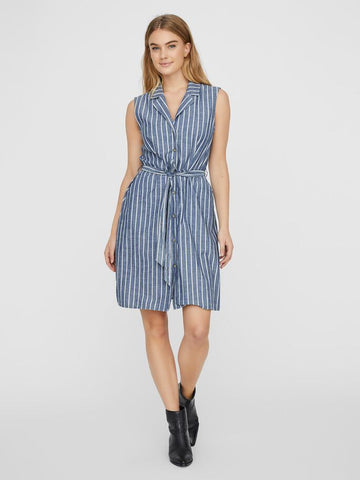 Vero Moda Sandy Dress - Blue Stripe