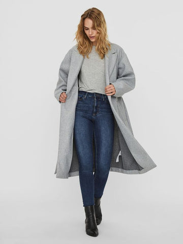Vero Moda Fortune Coat - Light Grey Melange