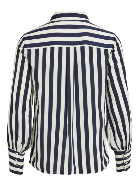 Vila ViStribello Long Sleeve Shirt - Navy Blazer