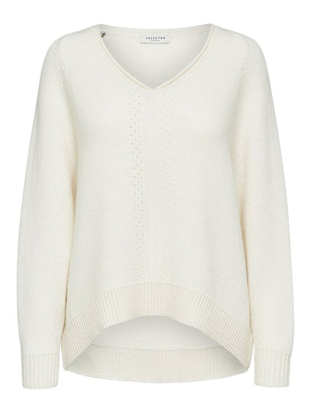 Selected Femme Molly Jumper - Snow White