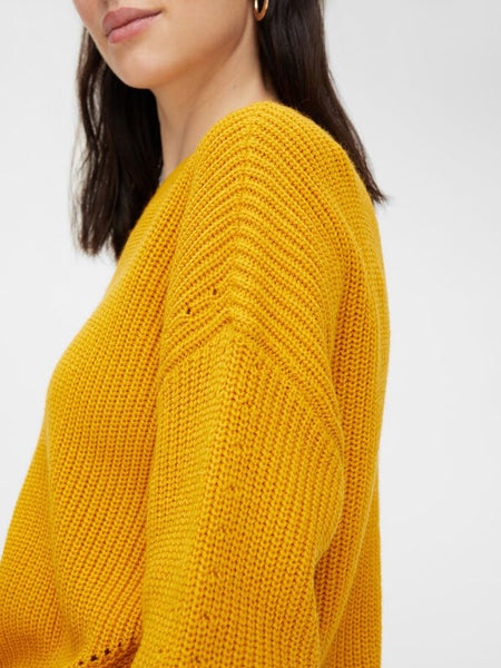 Pieces Karie Jumper - Nugget Gold