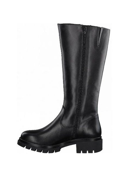 Tamaris Leather Boots - Black