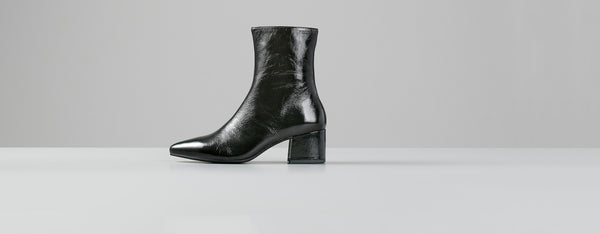 Vagabond Mya Patent Leather Boots - Black