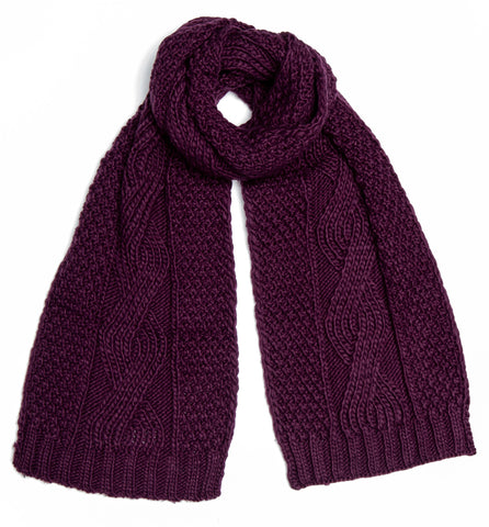 Boardmans Darby Scarf - Plum