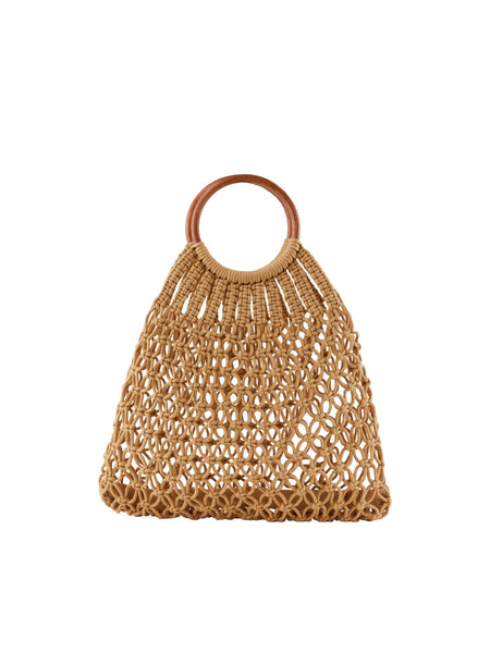 Pieces Crochet Bag - Almond Buff