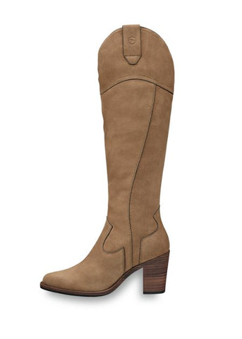 Tamaris Knee Knee High Leather Boots - Taupe