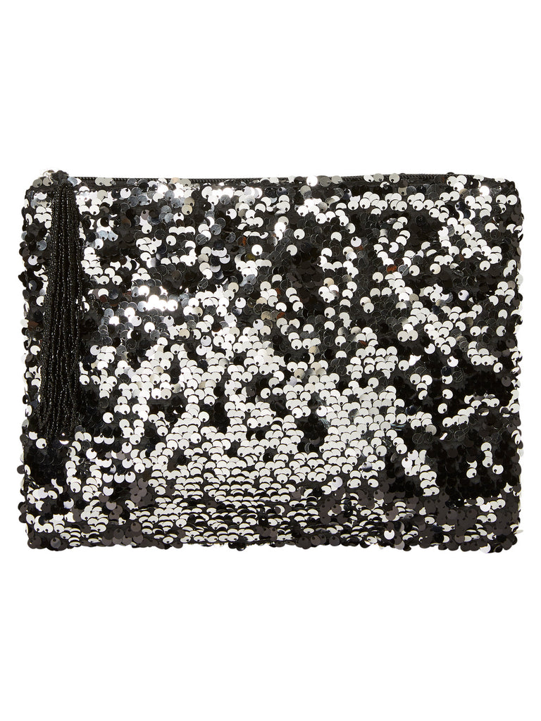 Vero Moda Sequin Clutch Bag - Black