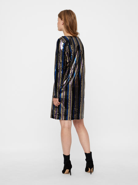 Vero Moda Doris Sequin Dress - Stripe Multi