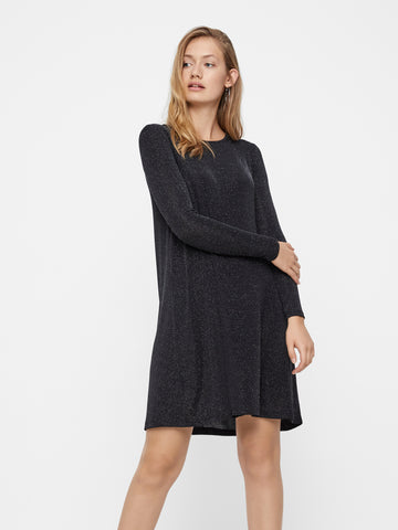 Vero Moda Sparkle Dress - Sliver Lurex