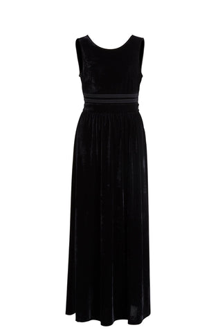 Vila Velvet Maxi Dress - Black