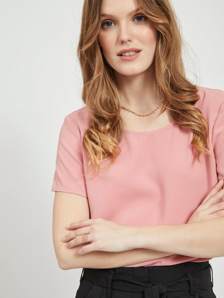 Vila Laia Top - Brandied Apricot