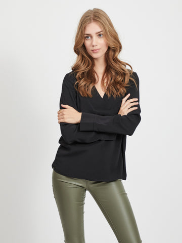 Vila Long Sleeved Top - Black