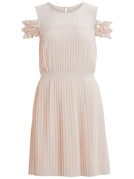 Vila Pleated Dress - Peach Blush