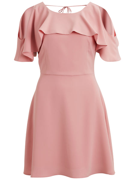 Vila Drape Detail Dress - Pink