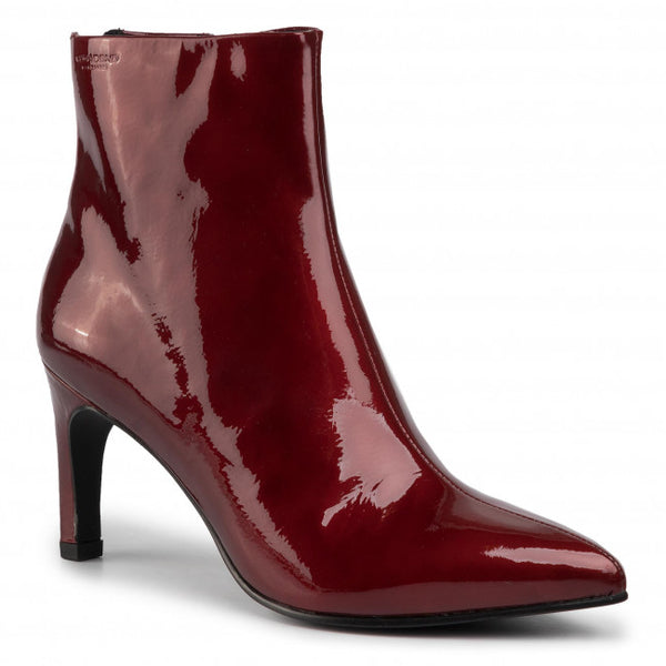 Vagabond Whitney Patent Leather Boots - Dark Red