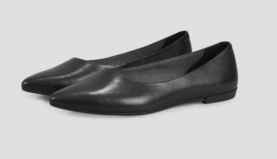 Vagabond Aya Leather Ballet Flat - Black