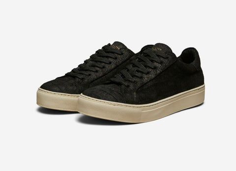 Selected Femme Donna Suede Trainer - Black