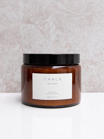 Chalk UK Large Hand Poured Natural Wax Candle - White Jasmine