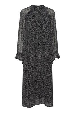 B Young Frangia Dress- Black Mix