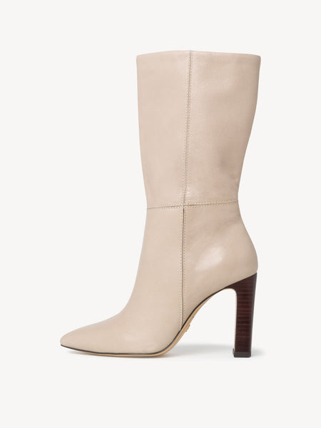 Tamaris Leather Boots - Ivory