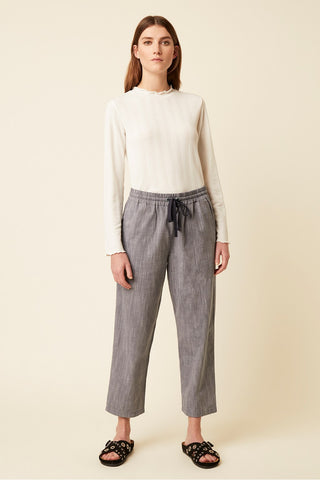 Great Plains Chambray Cropped Trousers - Chambray