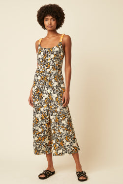 Great Plains Verbana Jumpsuit  - Black/Nectar Combo