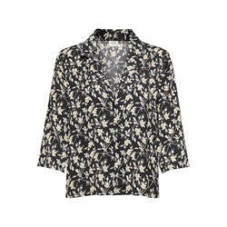 Jacqueline de Yong Rock Shirt- Black Flower