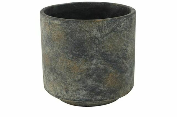 Trivoli Planter Large - Cement and Metallic Gold