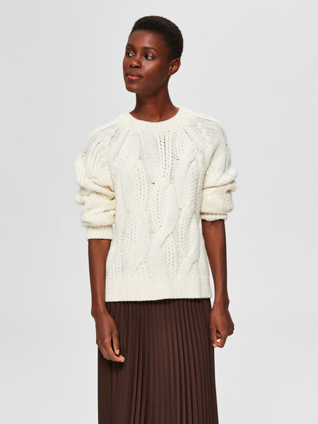 Selected Femme Bean Jumper - Snow White