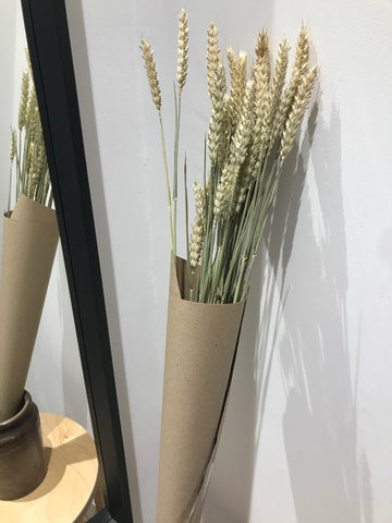 Natural Dried Wheat Bunch - 60cm