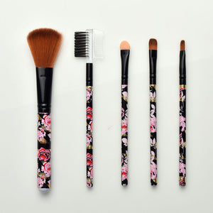 5 PCS Mini Colorful Flower Makeup Brushes Makeup Beauty Tools Various Styles and Portable 5 Sets