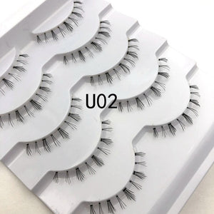 Mikiwi 7pairs 25mm long Faux 3D Mink Lashes Natural Long False Eyelashes Dramatic Volume Fake Lashes Makeup Extension Eyelashes