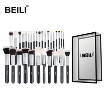 Load image into Gallery viewer, BEILI Black Complete Professional Natural goat hair Makeup Brushes set Foundation Powder Concealer Contour  Eyes Blending brush