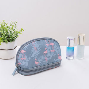 Hot Sale Portable Makeup Bag Brush Organizer Printed Zipper Travel Toiletry Case Cosmetic Bags for Women JLRS 2019
