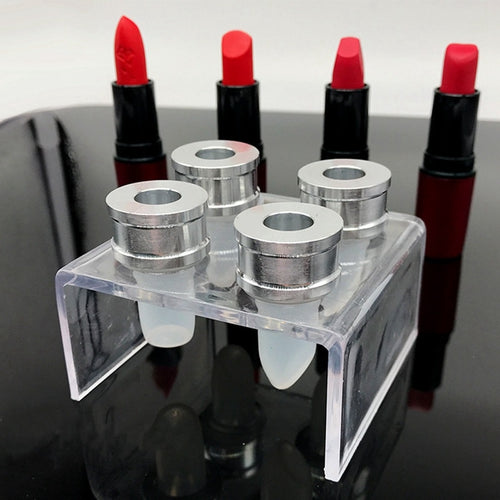 3pcs/set Silicone Lipstick Mold Aluminum Ring Mould Holder DIY Mould Crafts Tool Kit Stand Lip Balm  12mm Tube