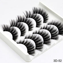 Load image into Gallery viewer, SEXYSHEEP 5Pairs 3D Mink Hair False Eyelashes Natural/Thick Long Eye Lashes Wispy Makeup Beauty Extension Tools