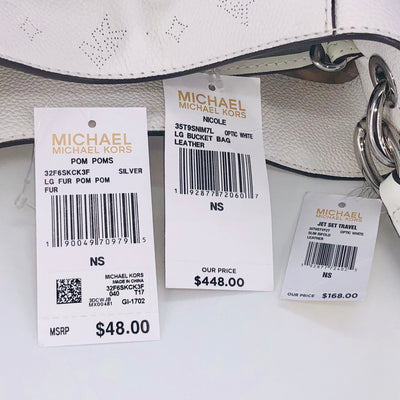 3PCS Michael Kors Nicole Bucket Bag Wallet Charms