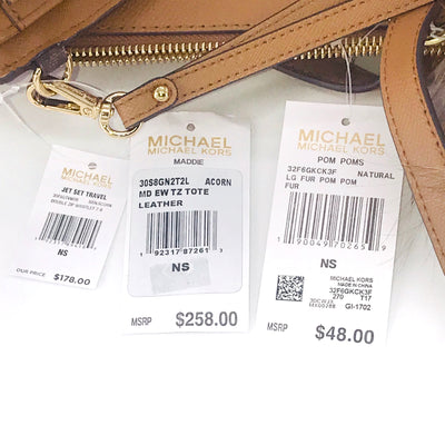 3PCS Michael Kors Maddie Medium Tote Wallet Charms